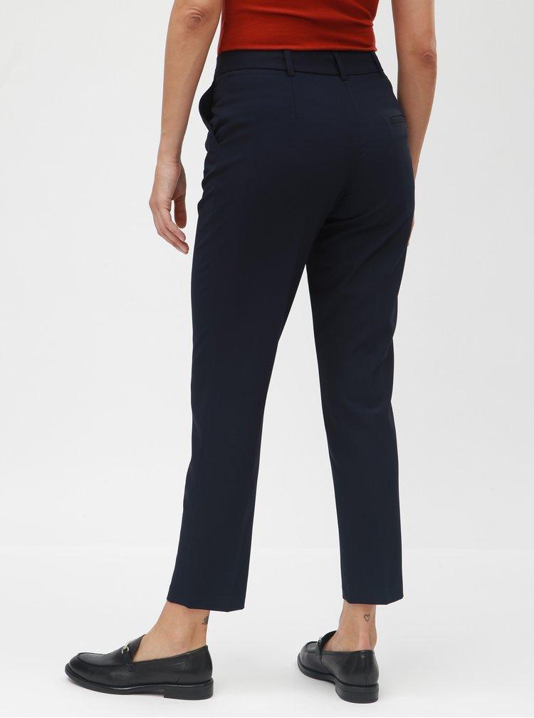 Tmavě modré slim fit kalhoty s puky Dorothy Perkins Naples