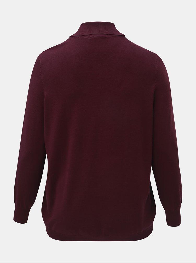 Fialový lehký svetr s rolákem Zizzi
