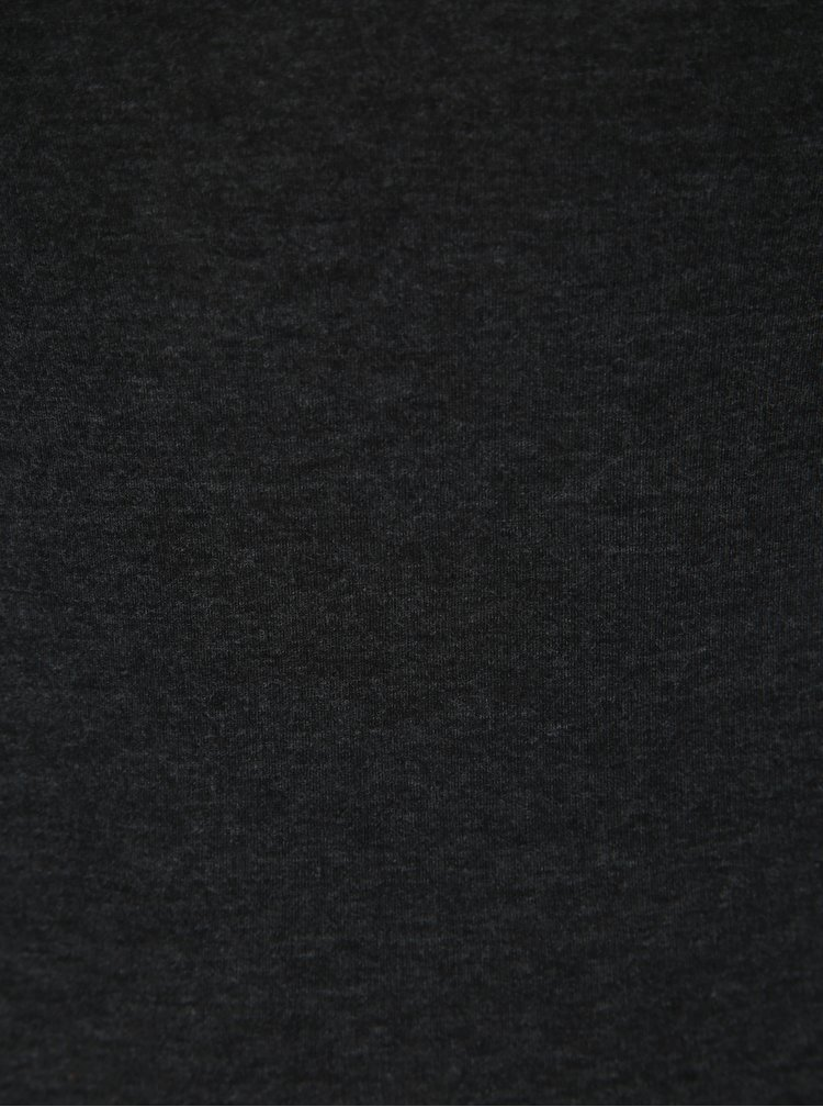 Tmavě šedé basic tričko s dlouhým rukávem Dorothy Perkins