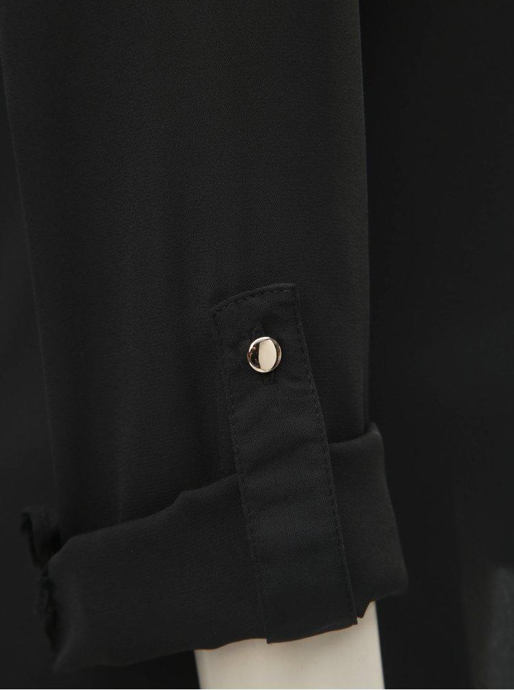 Čierna blúzka s véčkovým výstrihom Dorothy Perkins Tall