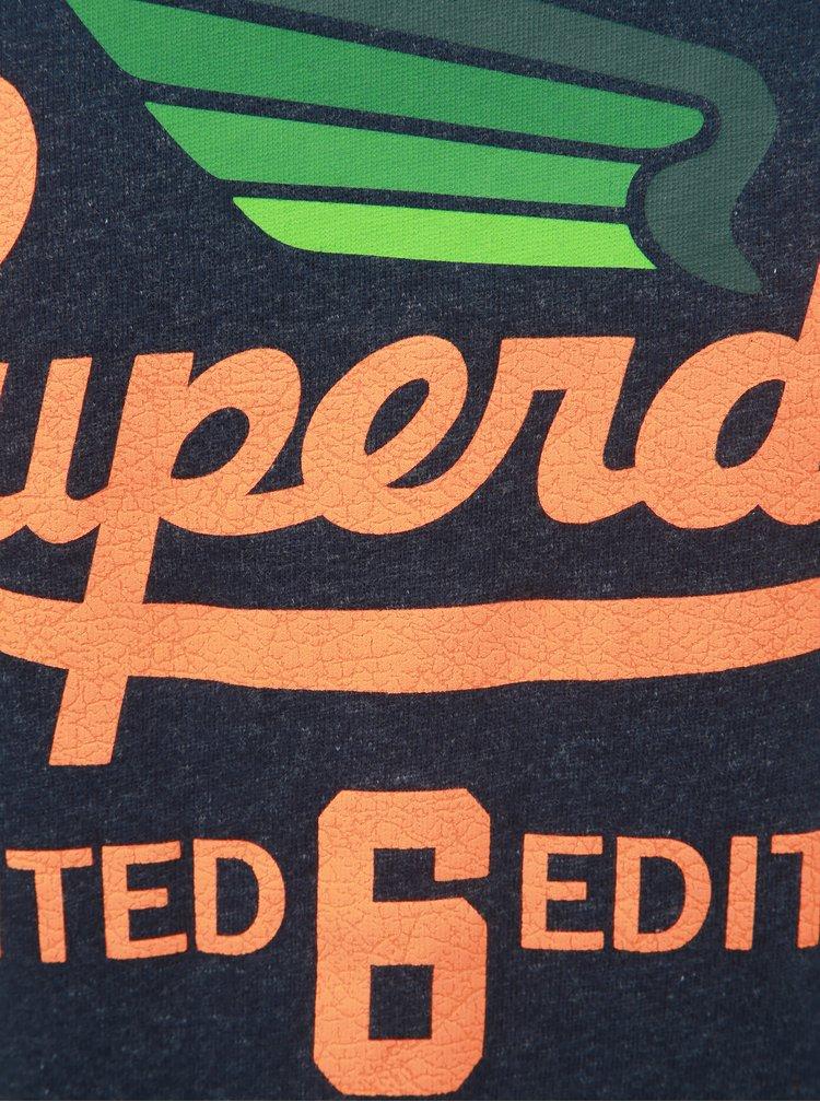 Tmavomodré pánske tričko s potlačou Superdry Limited Icarus