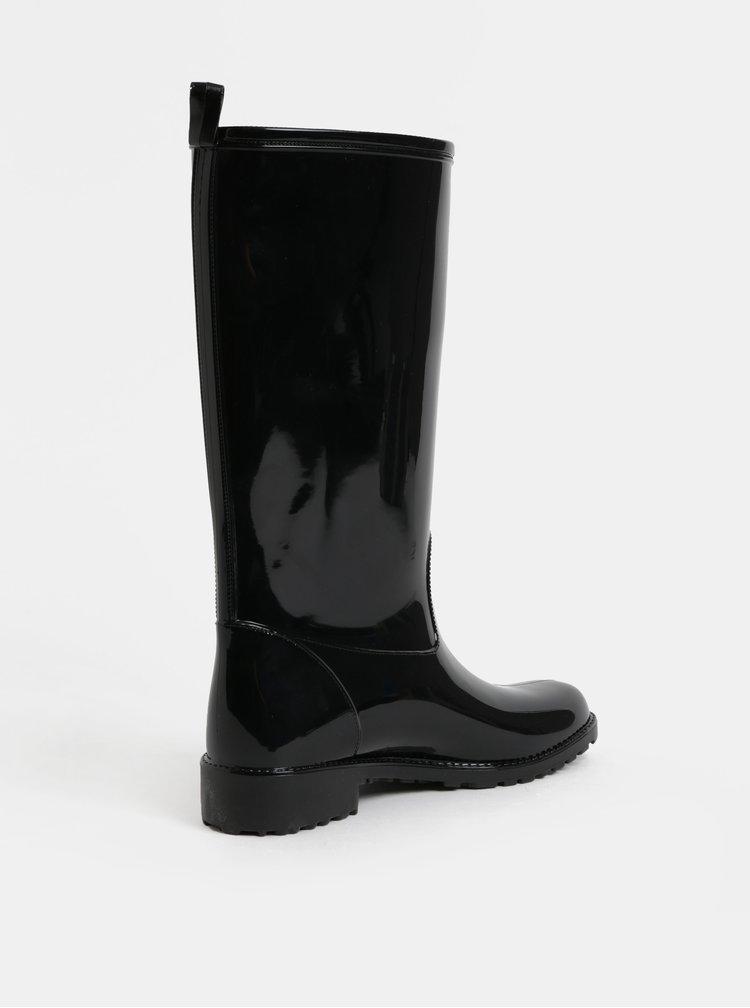 Cizme de ploaie negre luciosi OJJU