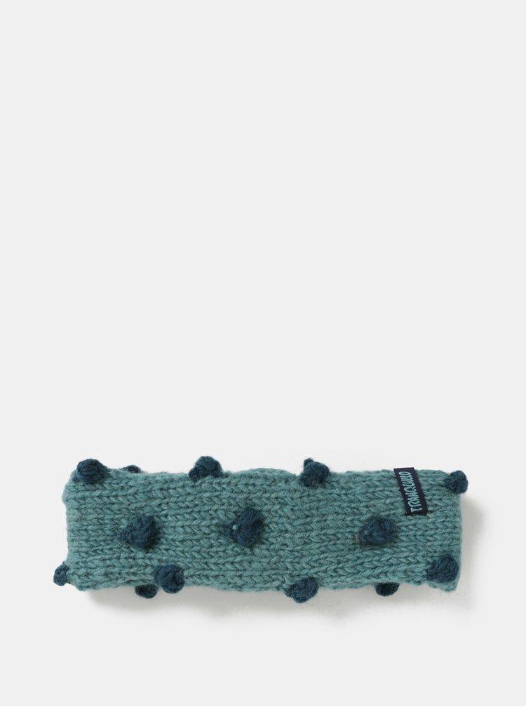 Modrá vlnená čelenka s bodkami Tranquillo Ask