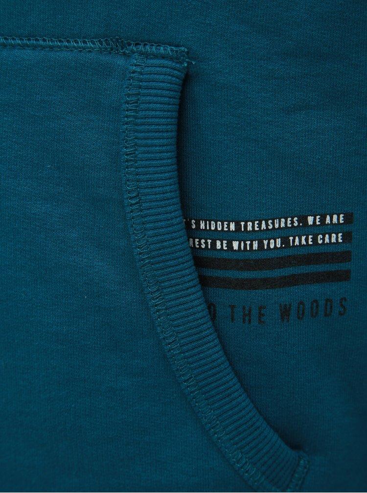 Modrá klučičí mikina s nápisem Name it Sagge