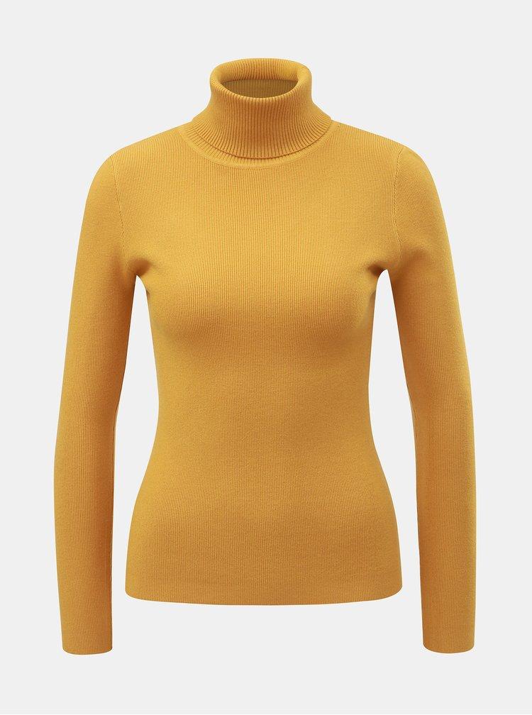 Hořčicový svetr s rolákem ZOOT