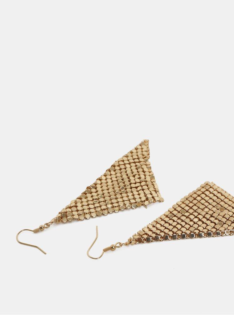 Visiace náušnice v zlatej farbe Pieces Kassidy