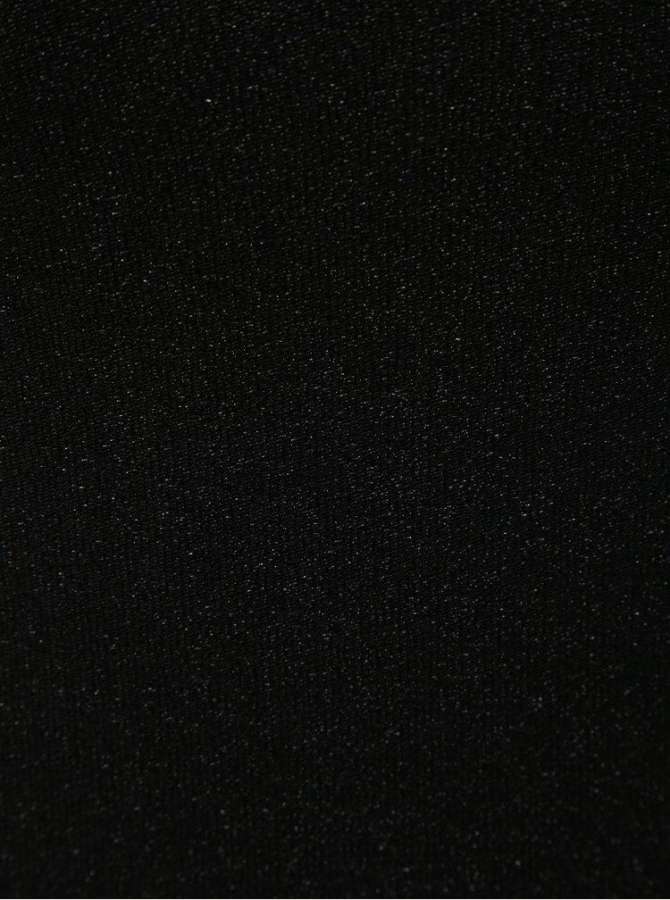 Černý třpytivý top s pásky na zádech Noisy May Infinity