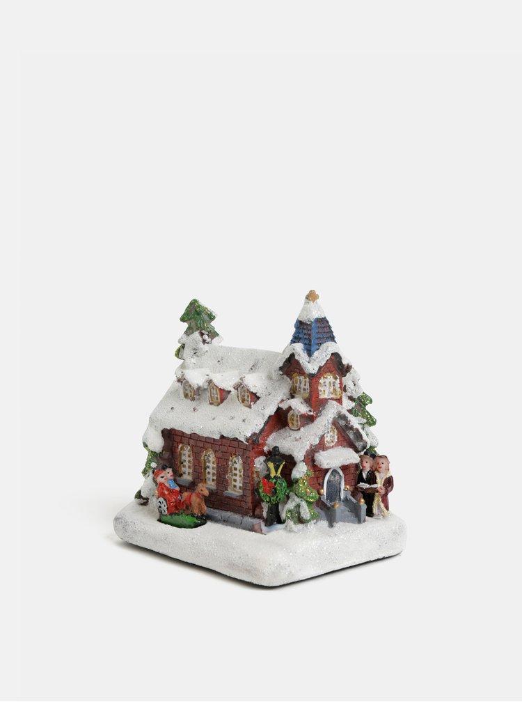 Svietiaca vianočná dekorácia v tvare kostola Kaemingk