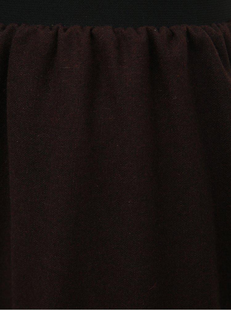 Tmavohnedá sukňa s vyšívaním SEVERANKA