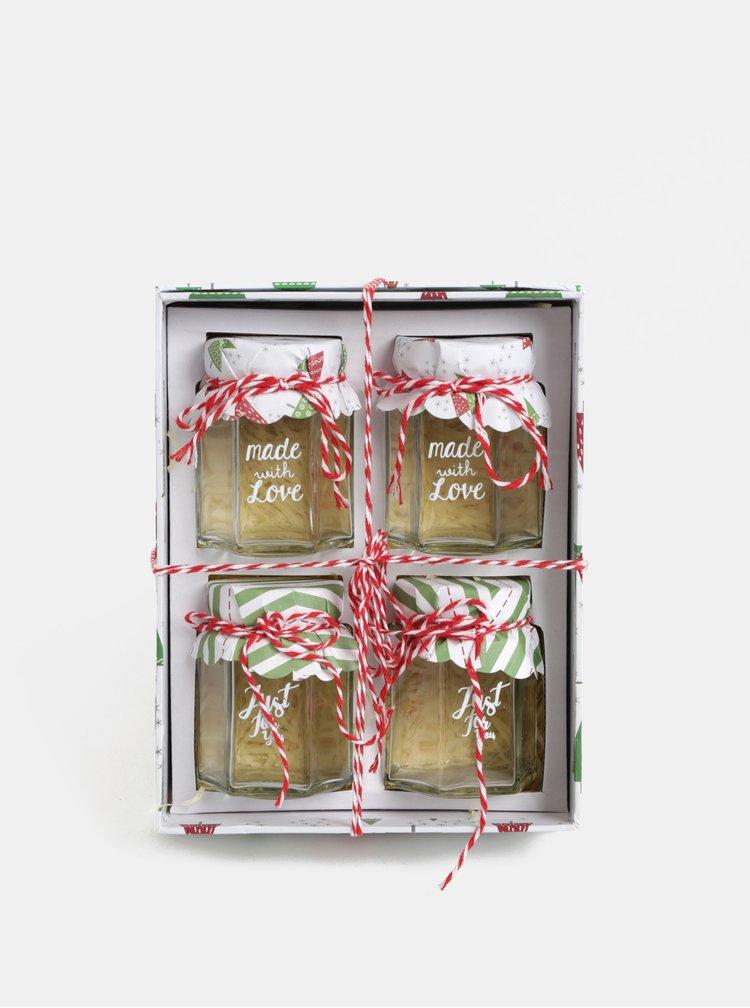 Darčeková vianočná kolekcia zaváracích pohárov s nápisom Kaemingk