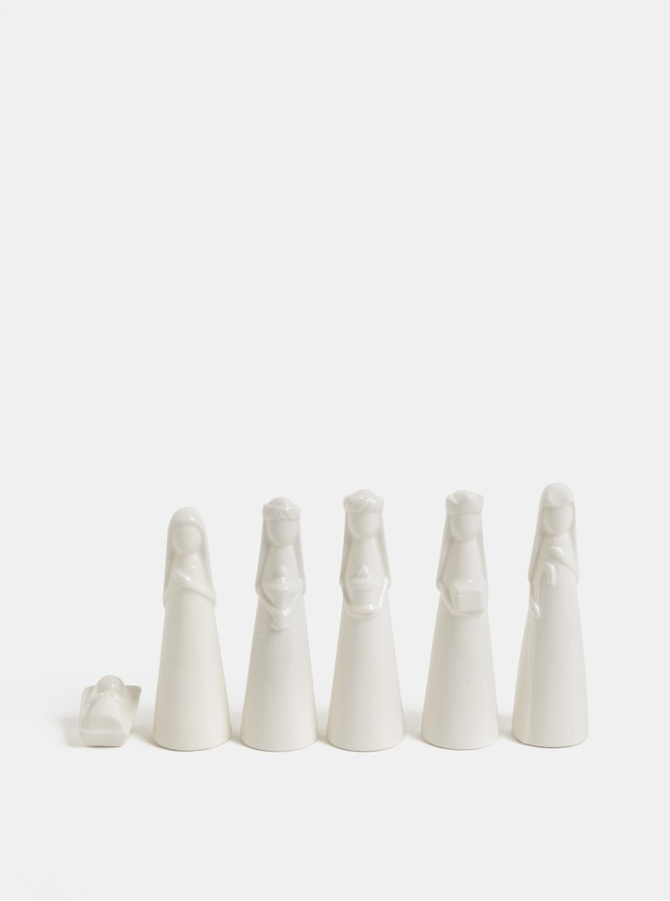 Set alb ceramic in cutie de cadou Kaemingk