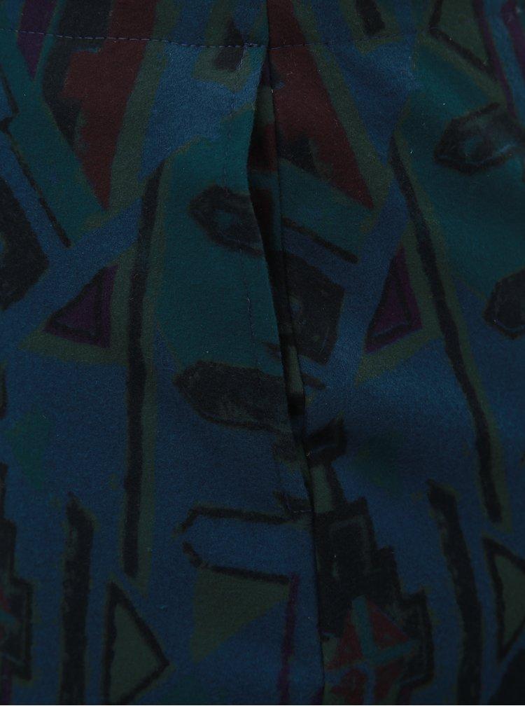Fusta mulata verde-albastru cu model SEVERANKA