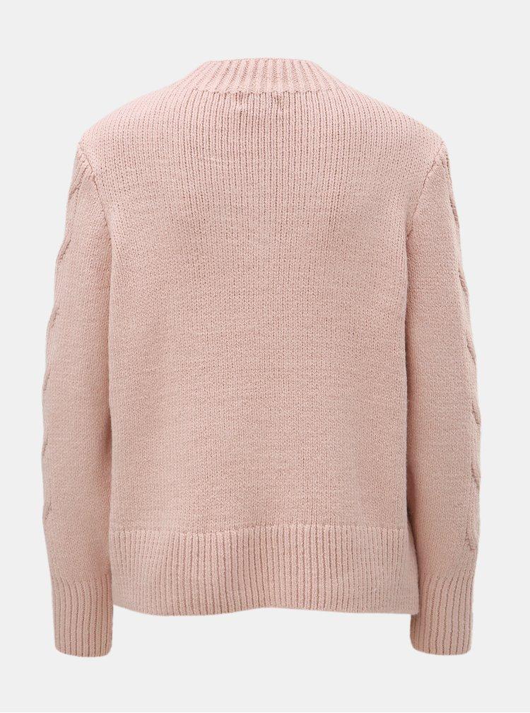 Starorůžový svetr se stojáčkem ONLY Fano