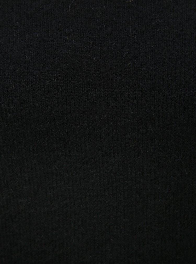 Černý svetr se stojáčkem a příměsí vlny Jacqueline de Yong Roberta