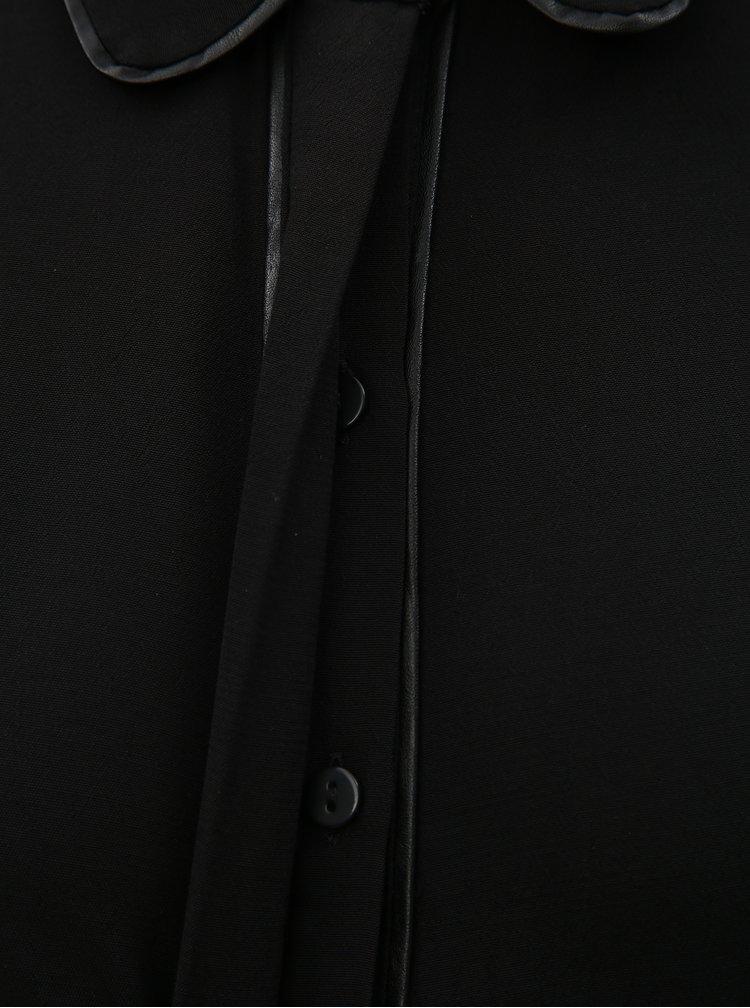 Camasa neagra cu nasturi ascunsi VERO MODA Mai