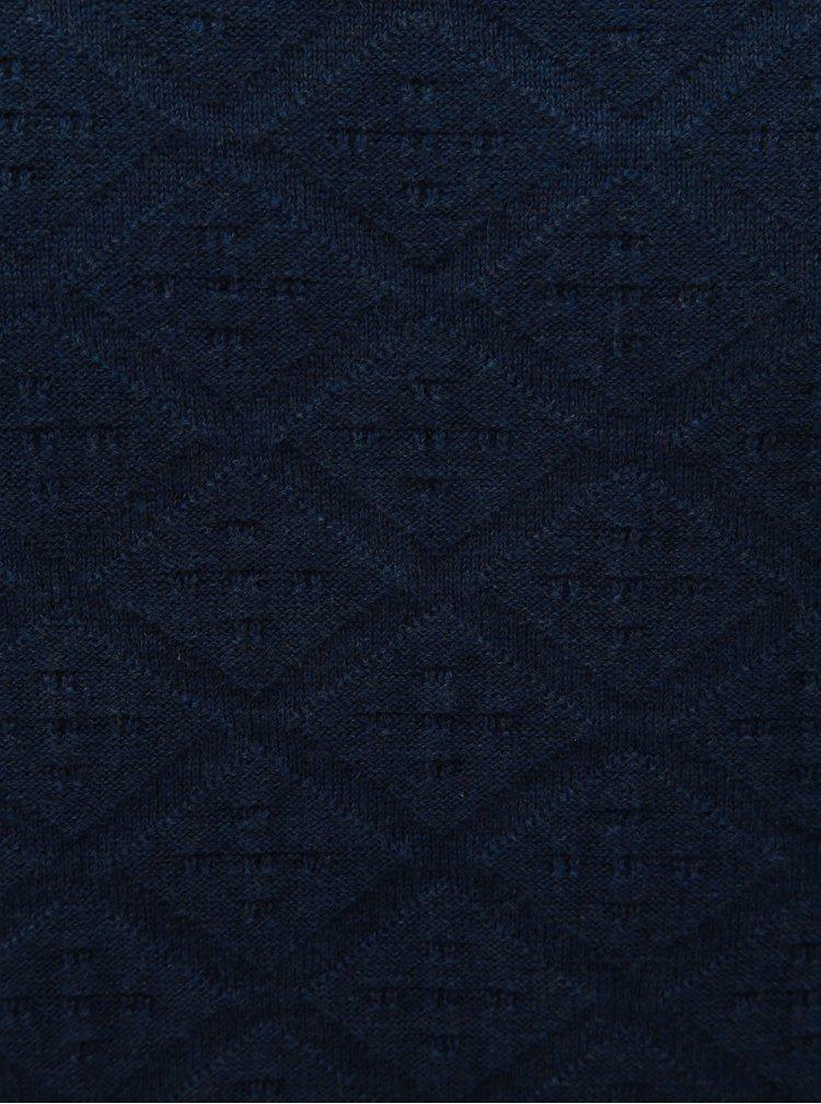 Pulover lejer albastru tartan Jack & Jones Boston