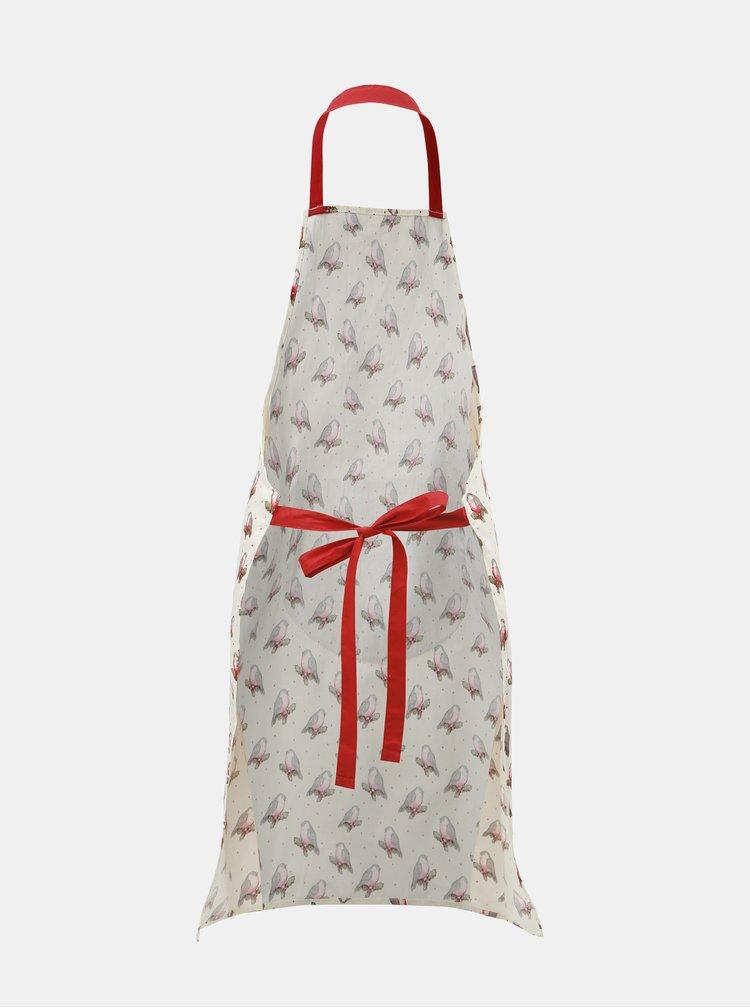 Krémová kuchyňská zástěra s vánočním motivem Cooksmart Xmas