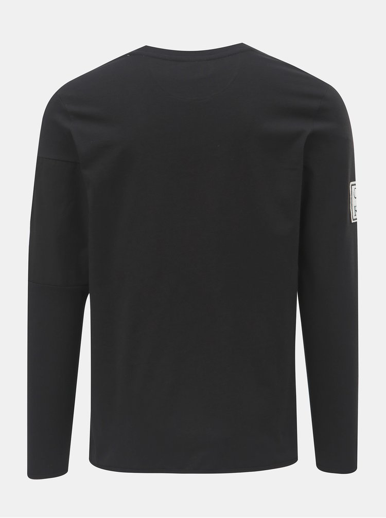 Tricou negru regular cu buzunar si petic pe o maneca Jack & Jones Band