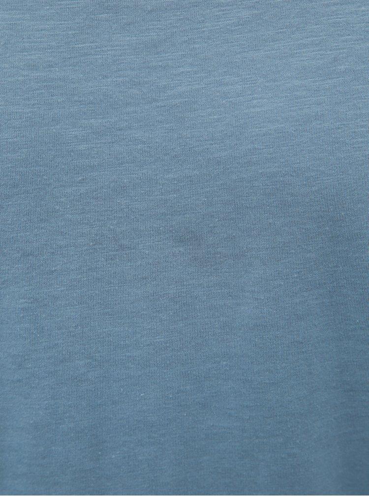 Modré basic tričko Jack & Jones Bas