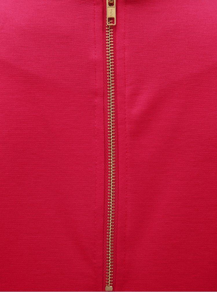 Rochie roz inchis cu maneci 3/4 VILA Tinny