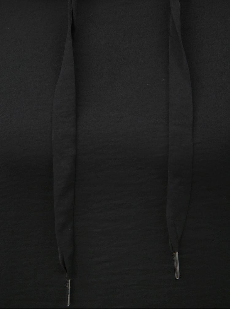 Pulover negru lejer cu gluga ONLY Ashley