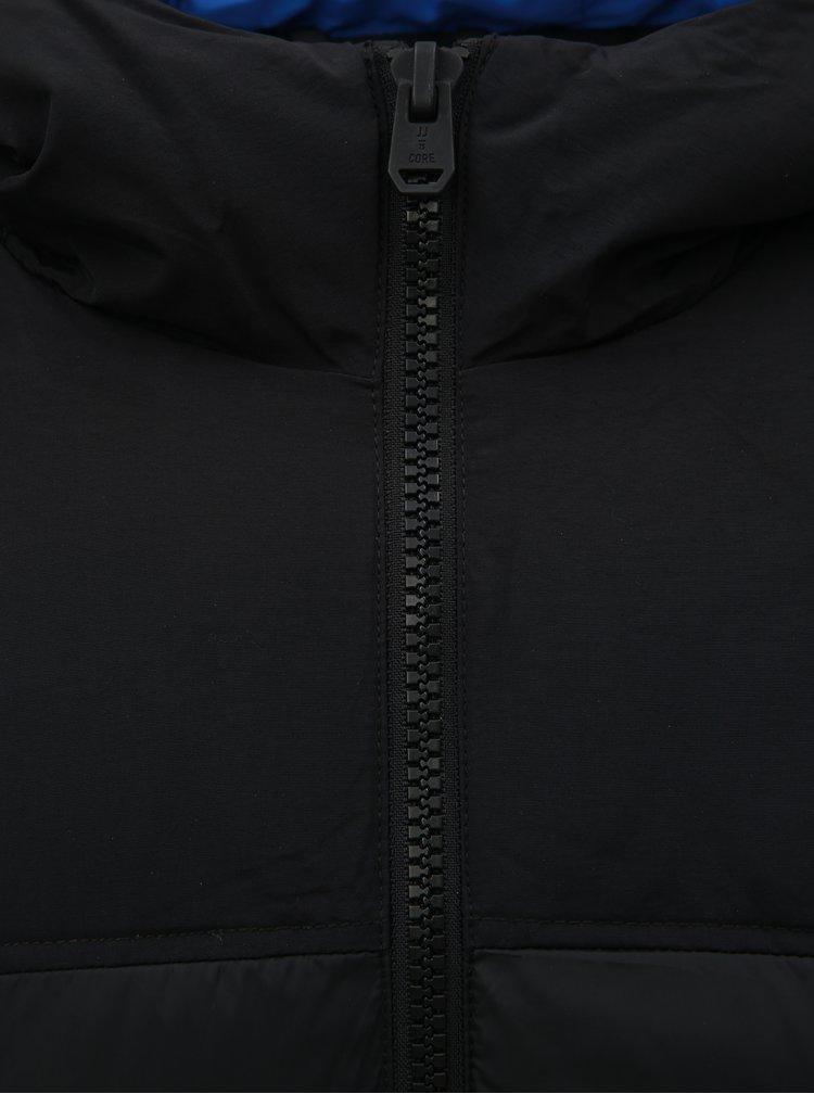 Čierna prešívaná nepremokavá zimná bunda Jack & Jones Cross
