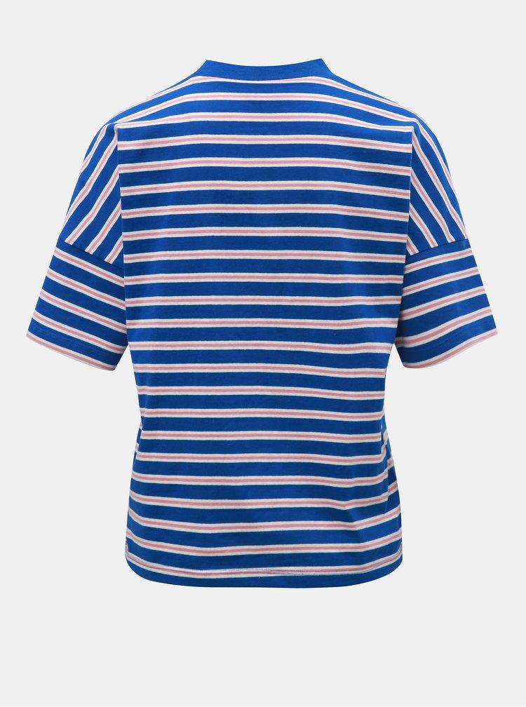 Ružovo–modré pruhované tričko Jacqueline de Yong Maike