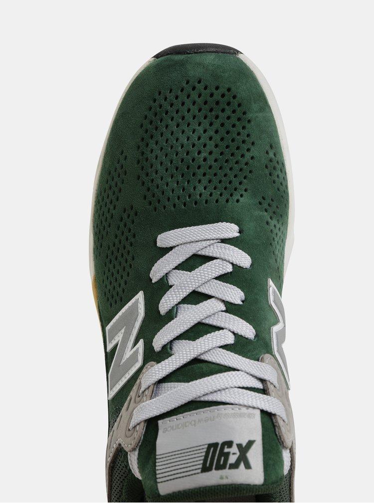 Zelené pánské semišové tenisky New Balance X-90