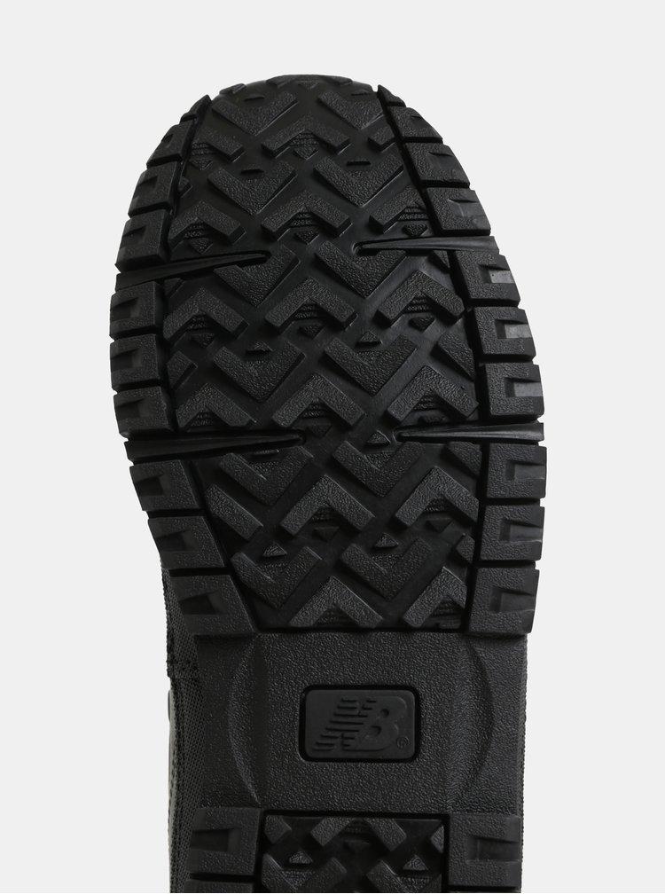 Černé pánské kožené kotníkové tenisky New Balance 754