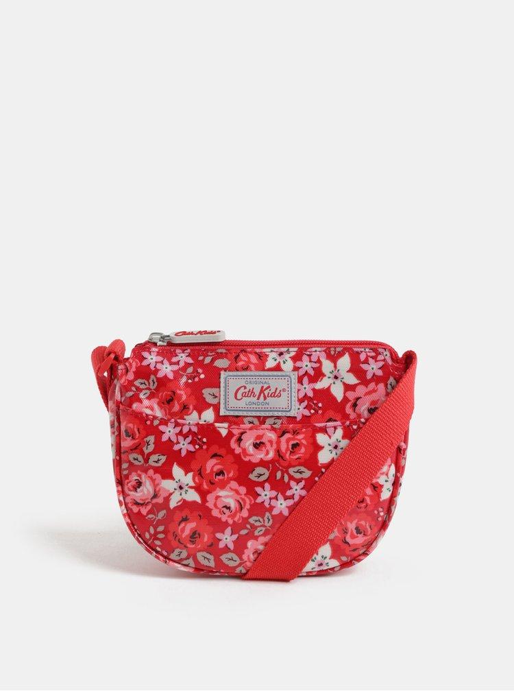 Červená holčičí květovaná kabelka Cath Kidston