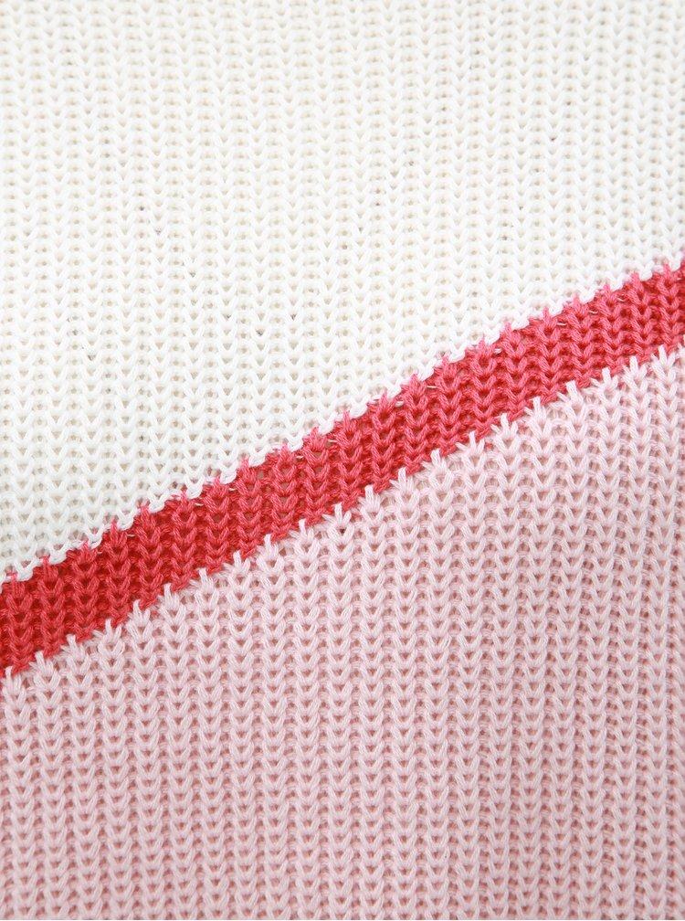 Pulover alb-roz cu maneci lungi ONLY Hilde