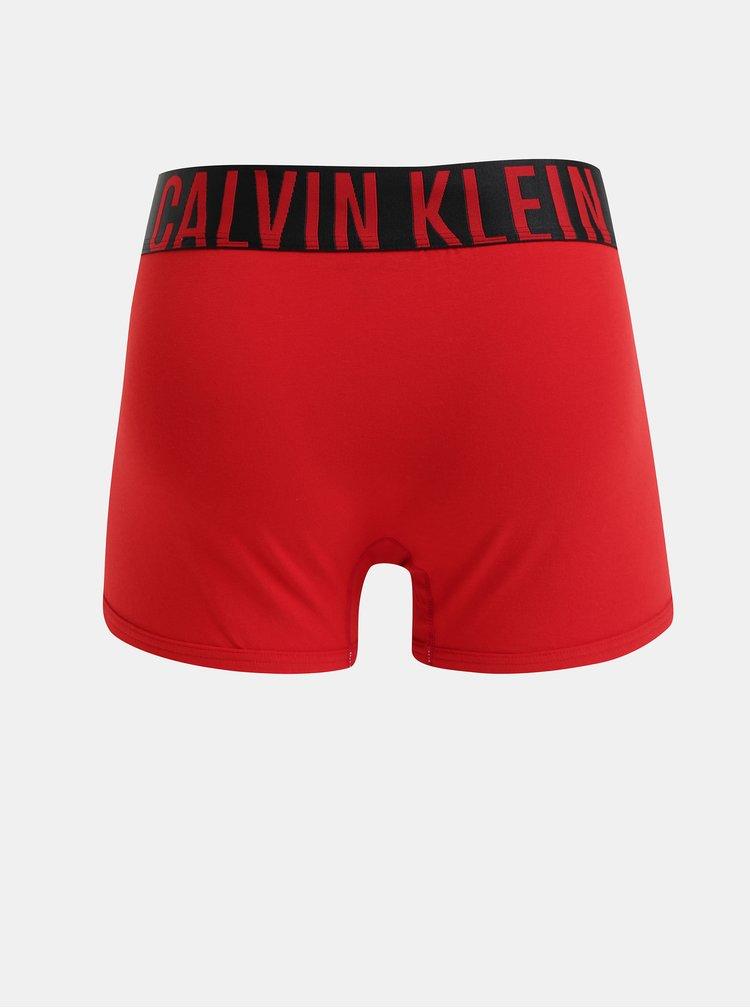 Červené boxerky so širokou gumou v páse Calvin Klein Underwear