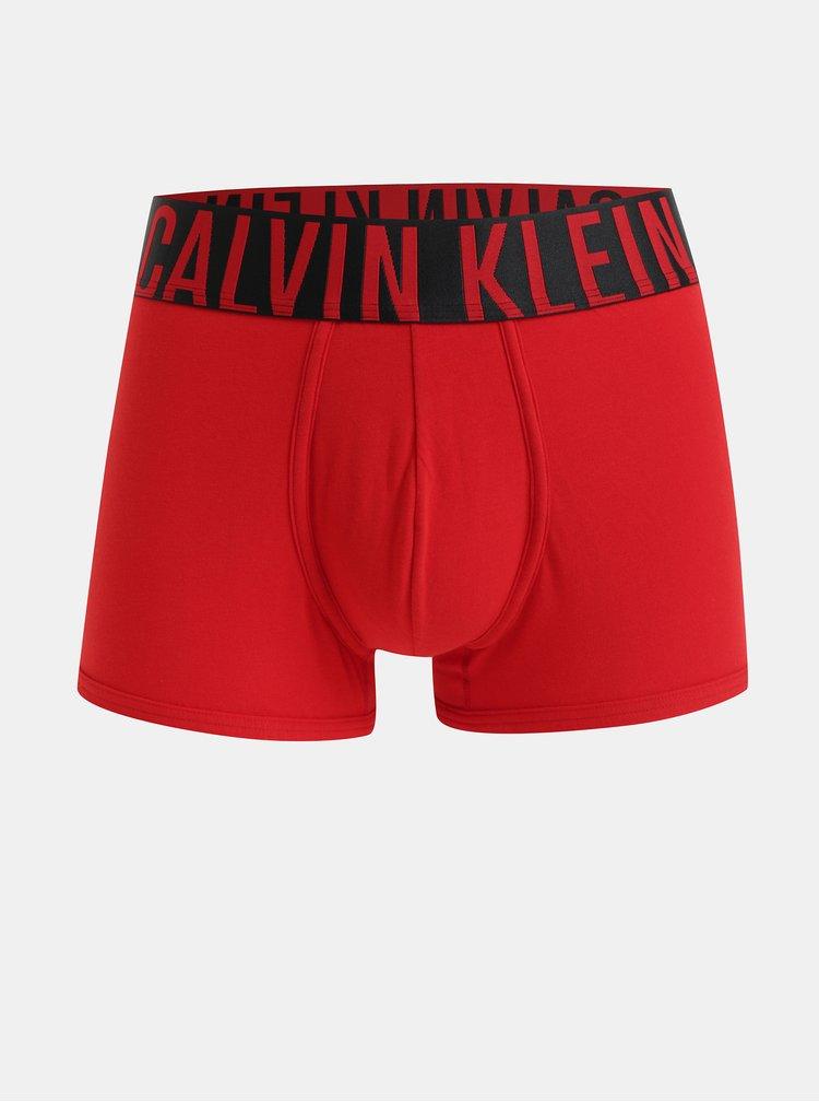 Červené boxerky s širokou gumou v pase Calvin Klein Underwear
