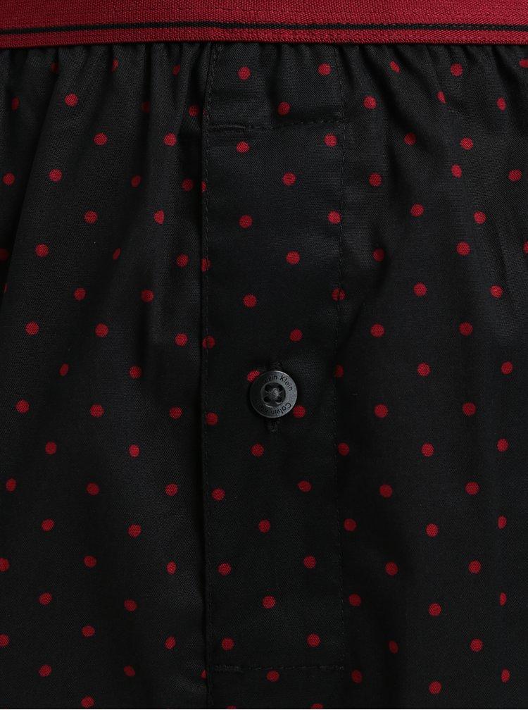 Sada dvou trenýrek v šedé, černé a vínové barvě Calvin Klein Underwear
