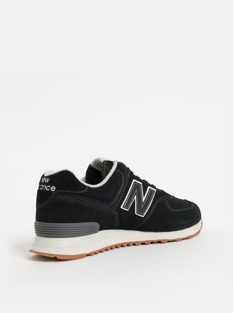 Černé pánské semišové tenisky New Balance 574