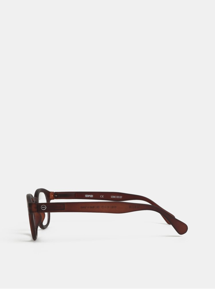 Hnedé unisex ochranné okuliare k PC IZIPIZI #C