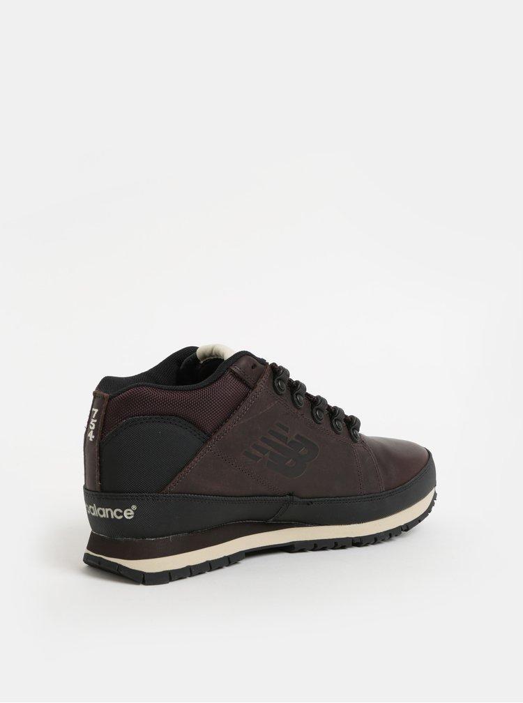 Pantofi sport inalti barbatesti maro inchis din piele New Balance