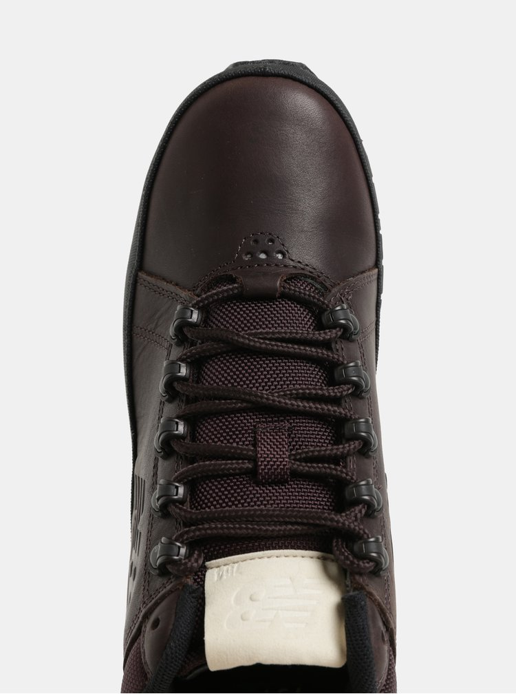 Pantofi sport inalti barbatesti maro inchis din piele New Balance 754