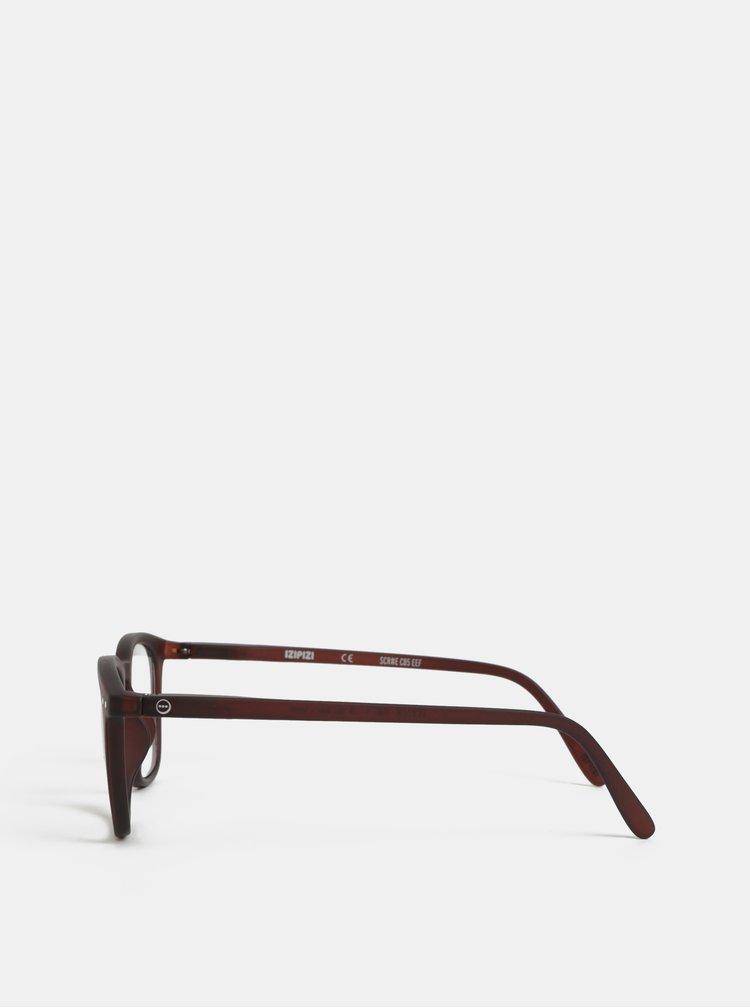 Hnědé unisex ochranné brýle k PC IZIPIZI #E