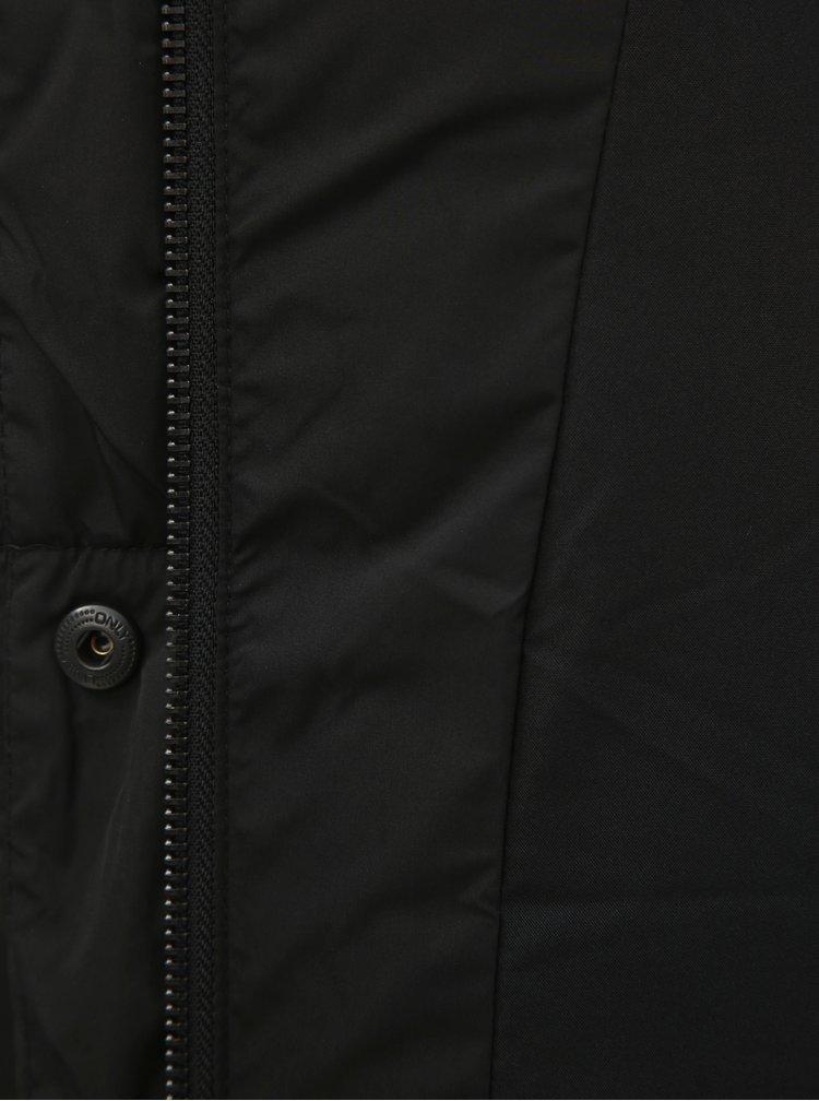 Čierna zimná prešívaná bunda ONLY Mari