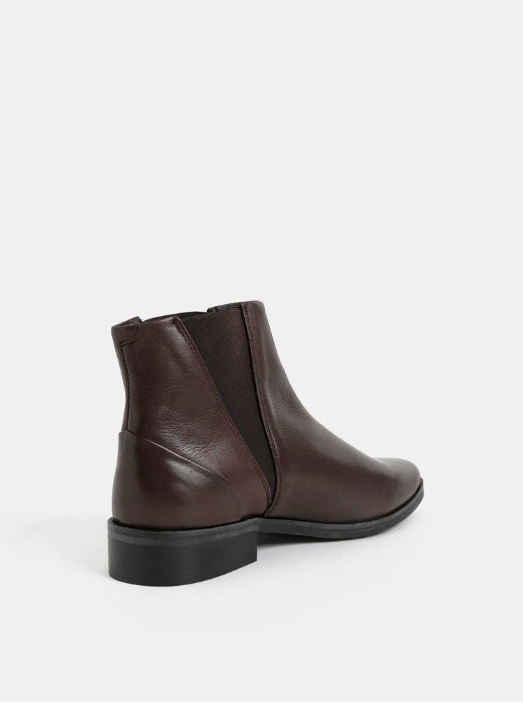 Hnedé dámske kožené chelsea topánky Royal RepubliQ