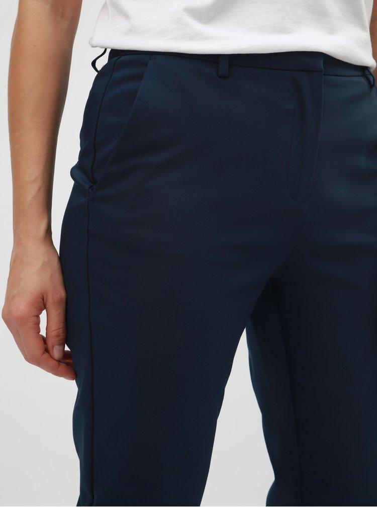 Tmavě modré kostýmové kalhoty VILA Delia