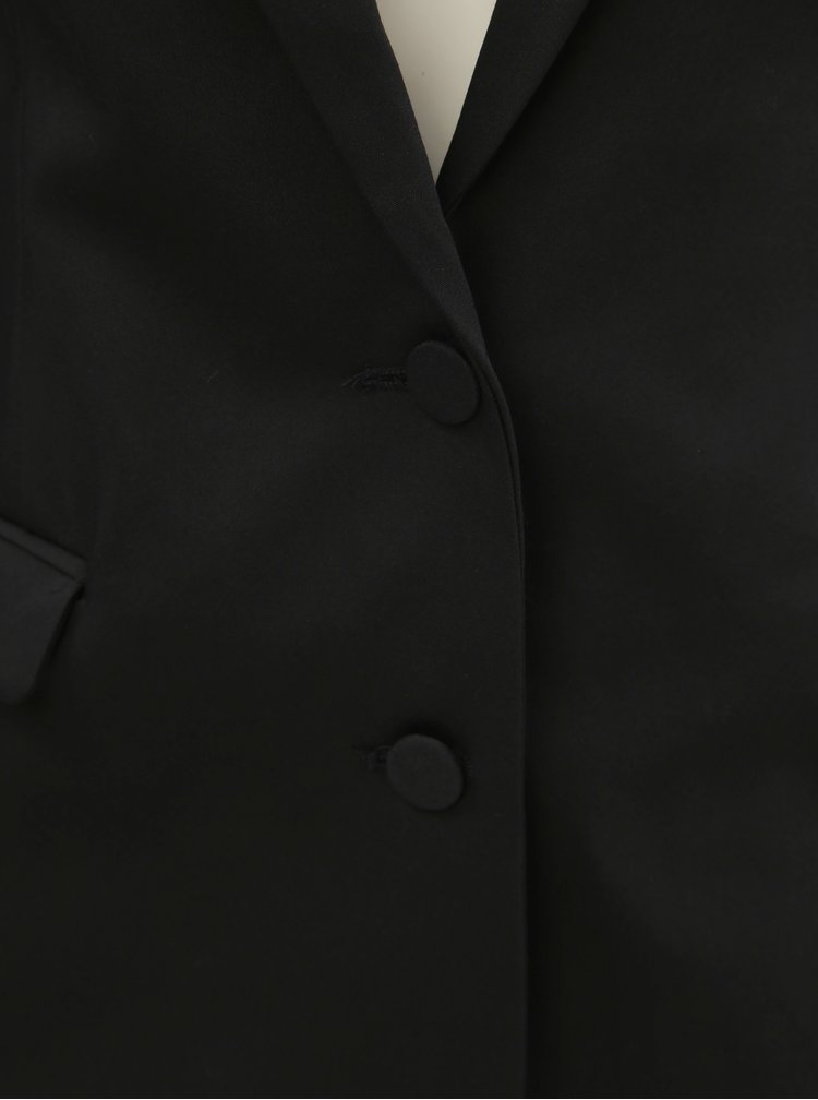 Sacou formal negru cu umeri intariti VILA Delia