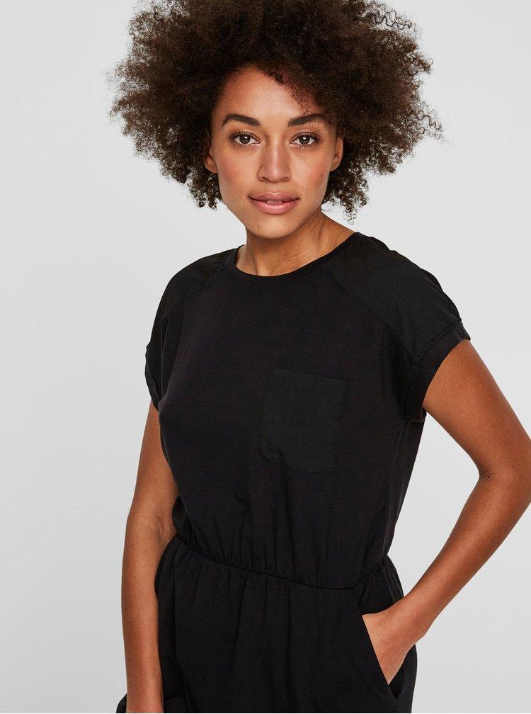 Rochie neagra cu buzunare si talie elastica - VERO MODA Ava