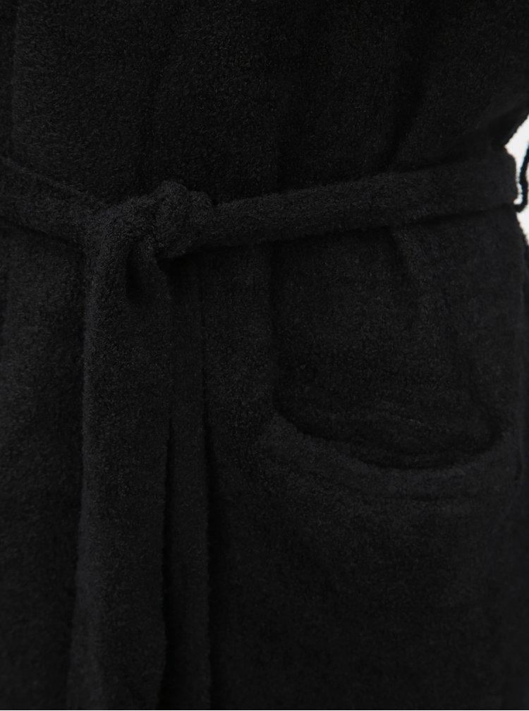 Černý dlouhý basic kardigan s kapsami touch me. Simply