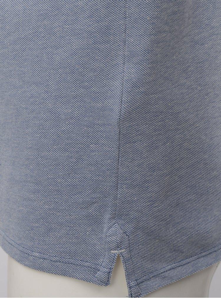 Tricou albastru deschis melanj Selected Homme Twist