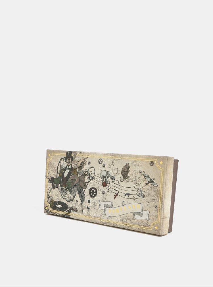 Manusi pentru smartphone maro cu partea superioara din piele in cutie cadou Portland