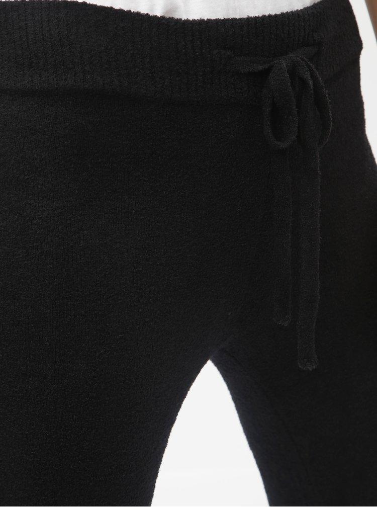 Černé zkrácené tepláky s vysokým pasem touch me.