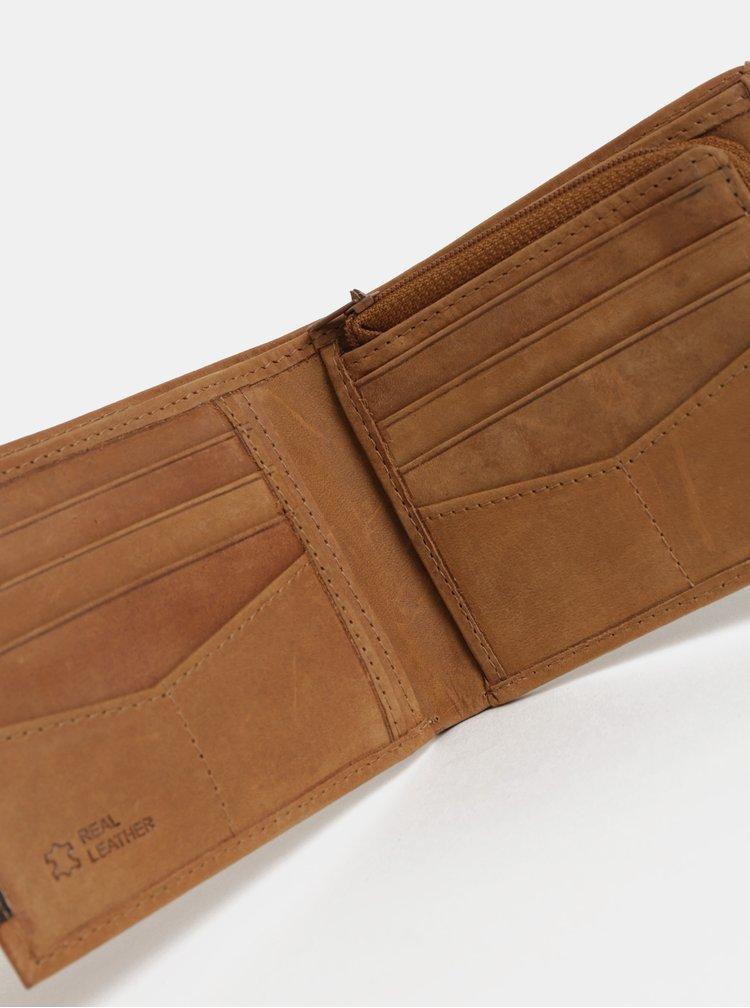 Hnědá kožená peněženka v dárkové krabičce Portland