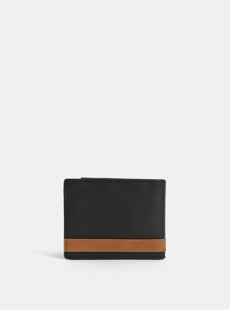 Portofel negru din piele in cutie cadou Portland
